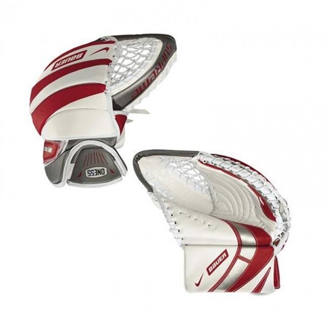 Nike Hockey Gloves: Nike Bauer Hockey Supreme ONE55 Junior Goalie Catcher