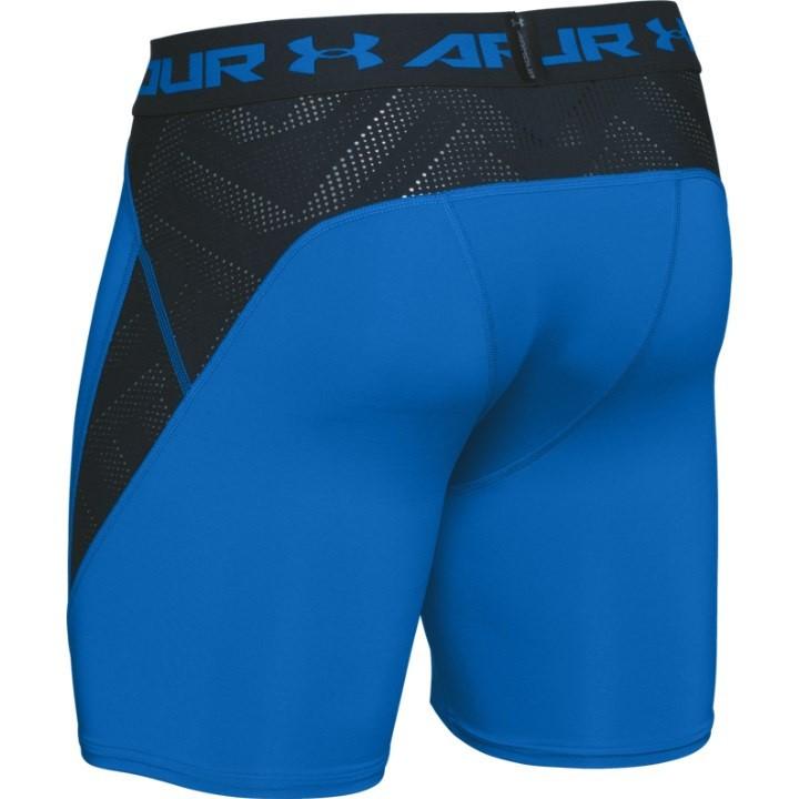 orange under armour compression shorts