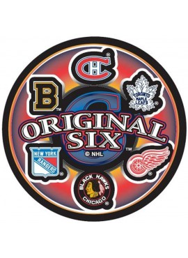 Souvenir Inglasco NHL 6 Team ice hockey puck