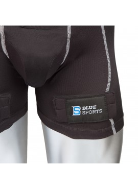 Blue Sport Compression jock pant with cup and velcro Sr