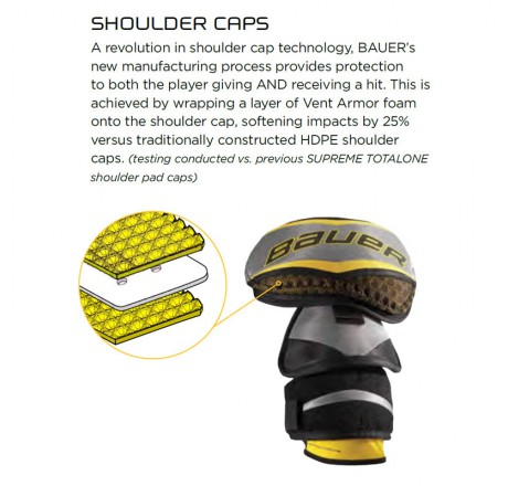 Shoulder Pads  Bauer TotalOne NXG Sr