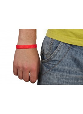 Silicon wristband Sportrebel Hit or get Hit