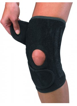 Open patella knee stabilizer