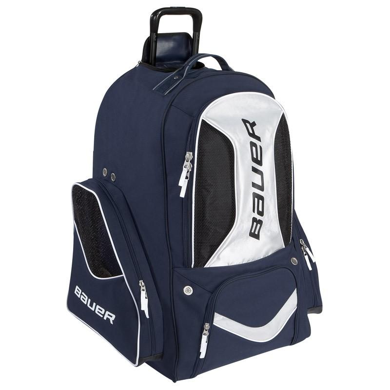 Bauer Premium Large Wheeled Equipment Backpack Hockey Bags Sportrebel