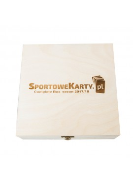 Sports Cards in a wooden box